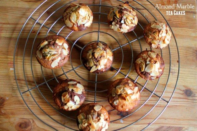 Almond Marble tea cakes