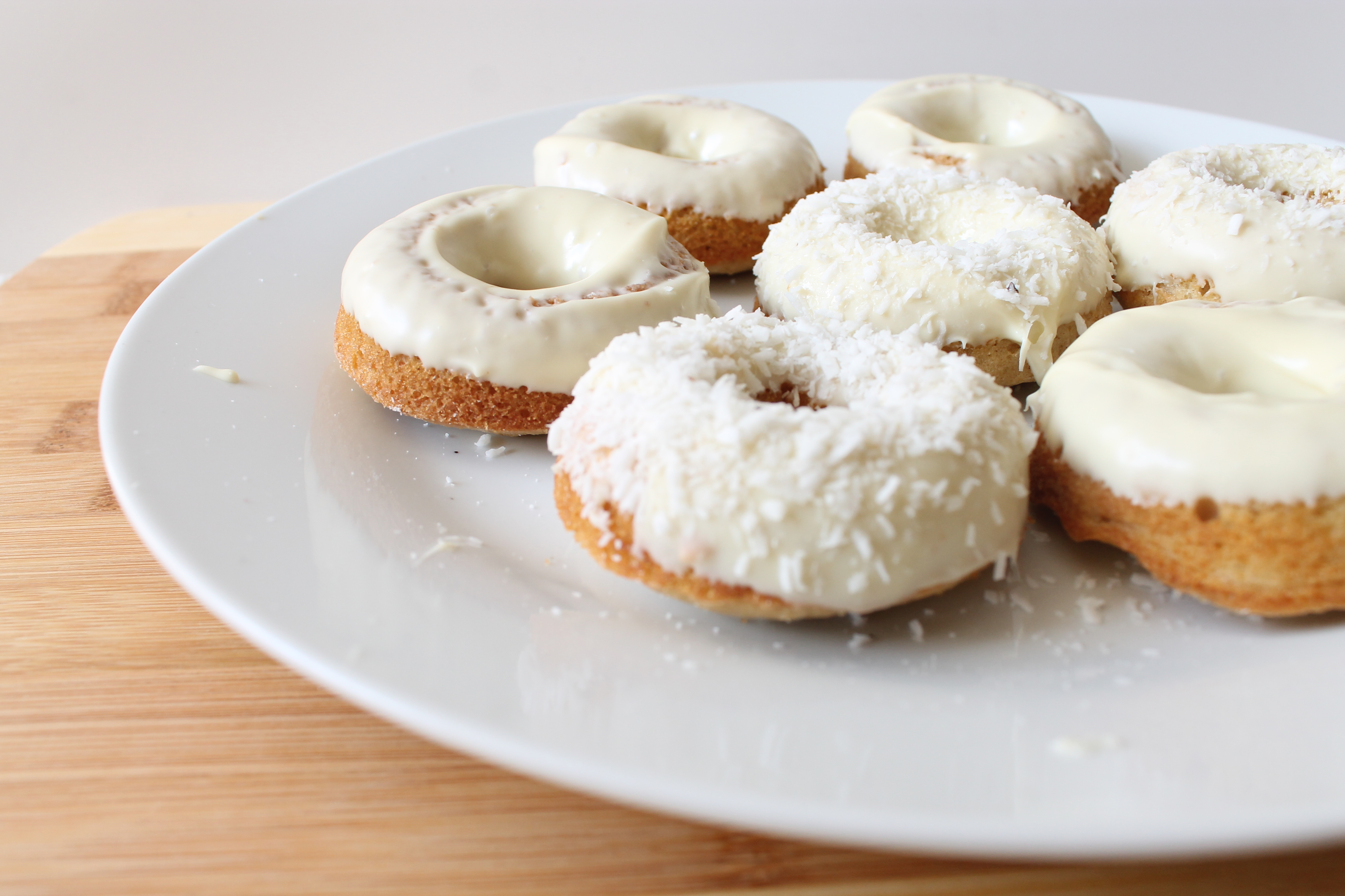 White Chocolate And Coconut Donuts