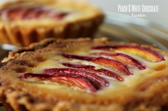 White chocolate and peach tart recipe