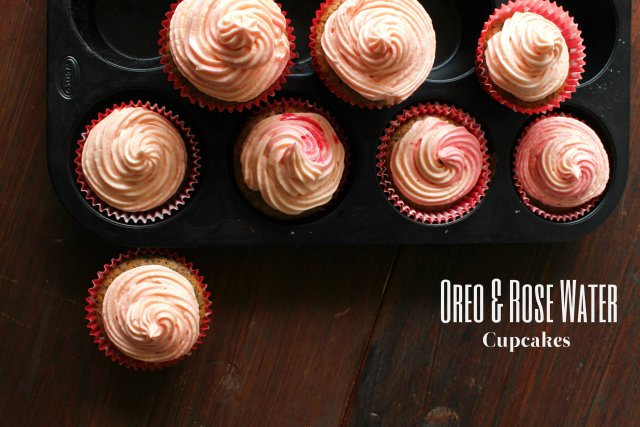 oreo and rosewater cupcakes