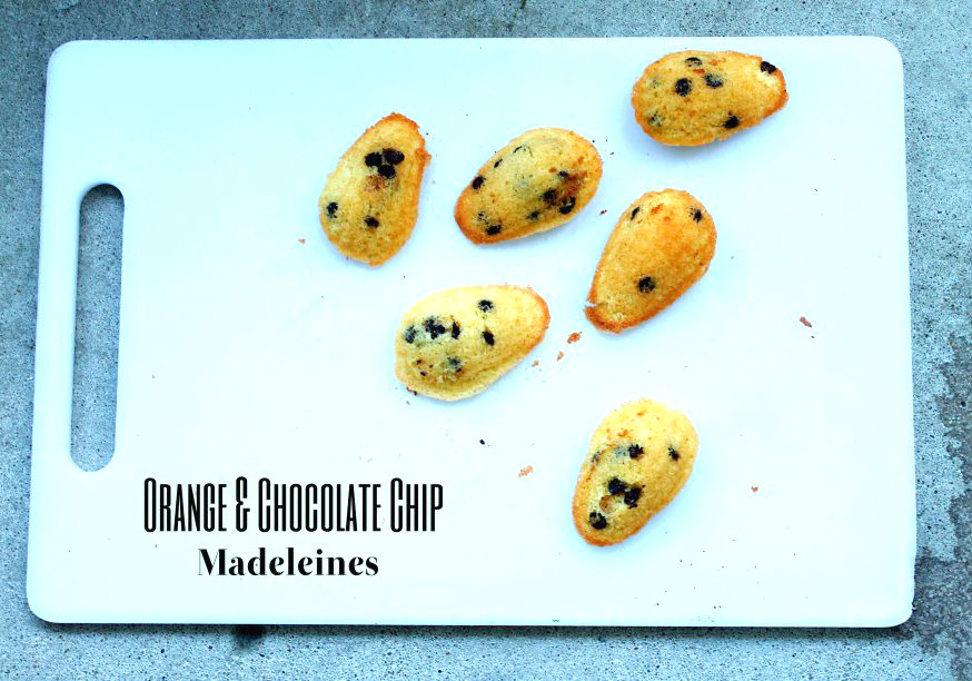 Orange & Chocolate Chip Madeleines -