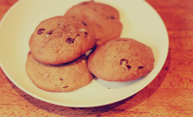 dark chocolate and ginger cookies