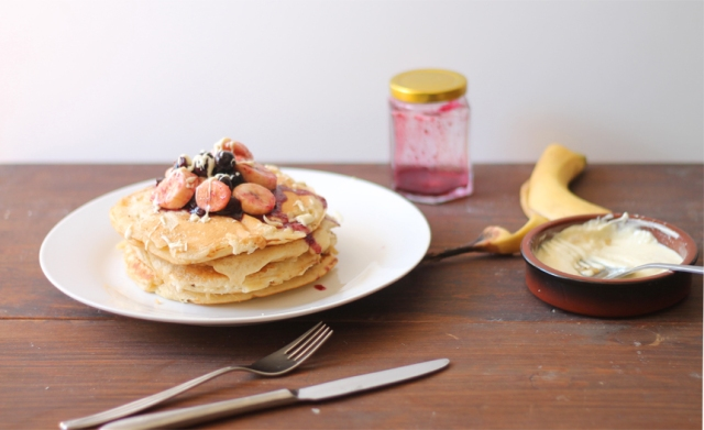 banana and coconut pancakes recipes