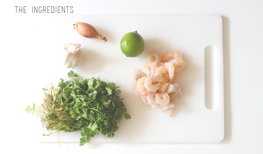 lime and coriander prawn recipe