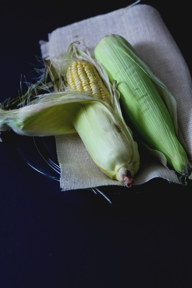 grilled sweetcorn chili and salt
