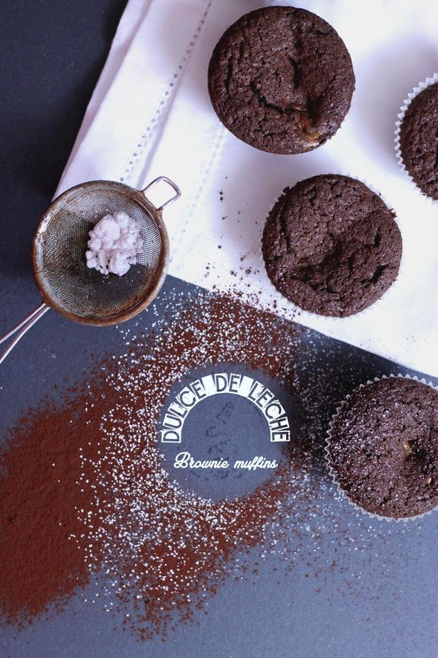 Dulce De Leche Brownie Muffins